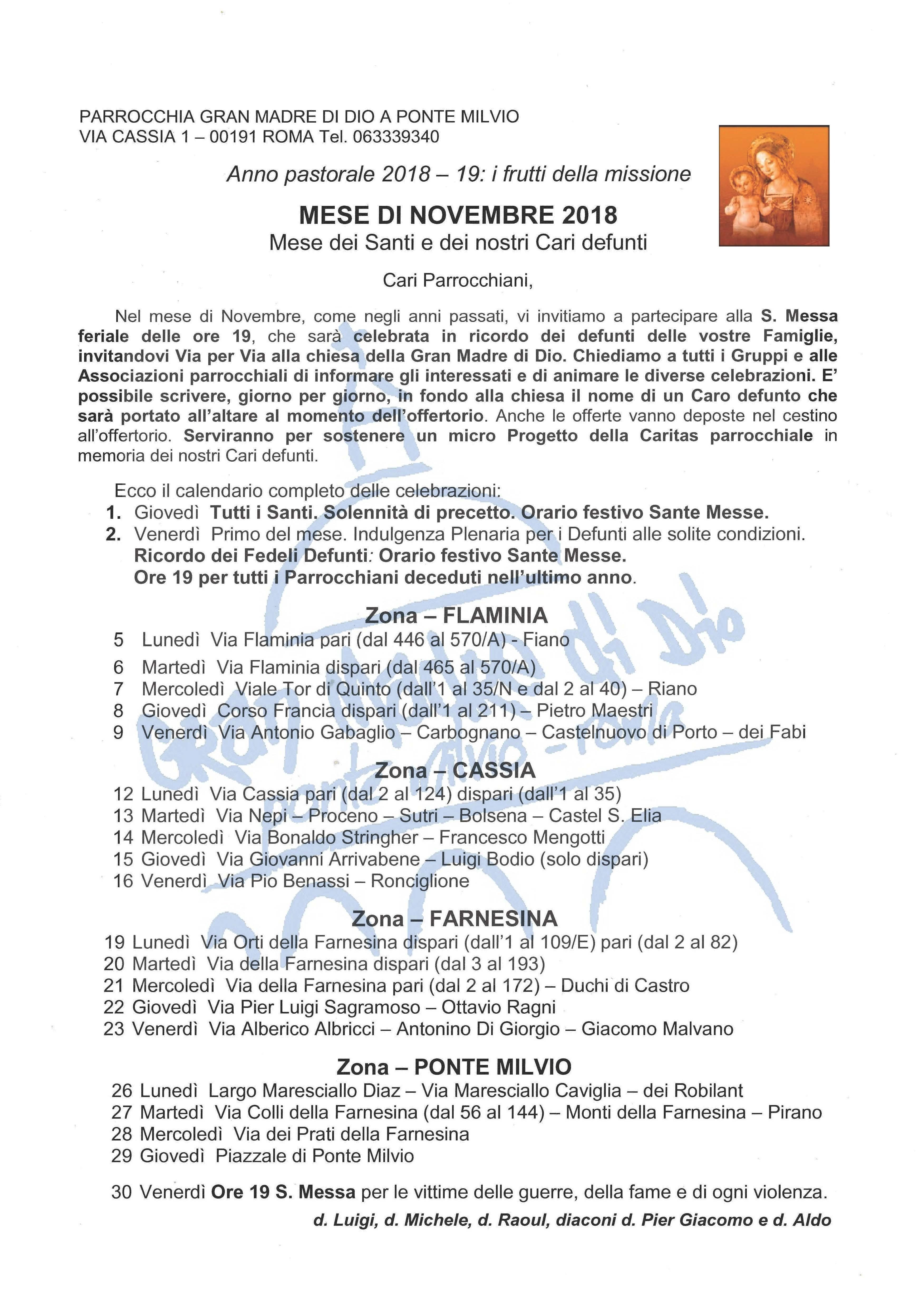 Indulgenze Plenarie Calendario.Novembre 2018 Mese Dei Santi E Dei Nostri Cari Defunti