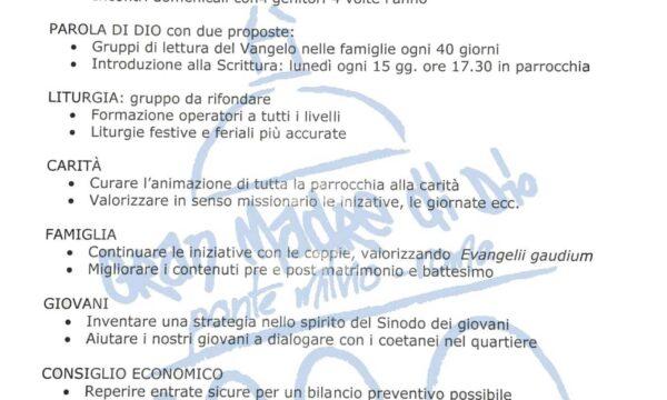 Progetto Parrocchiale 2018-19