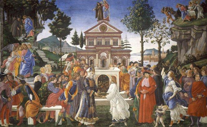 Tentazioni di Cristo (Cappella Sistina). Sandro Botticelli 1482