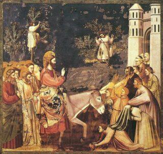 Giotto di Bondone, Ingresso a Gerusalemme, Cappella degli Scrovegni a Padova